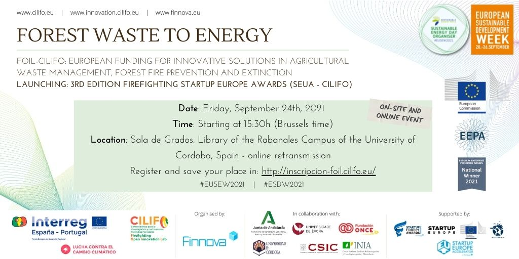 CILIFO to discuss EU funding opportunities in agricultural and forestry waste management on EU Sustainable Energy Week & EU Sustainable Development Week